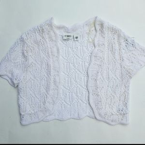 Catos Girls Cream Crochet Cardigan - Size XL (EUC)